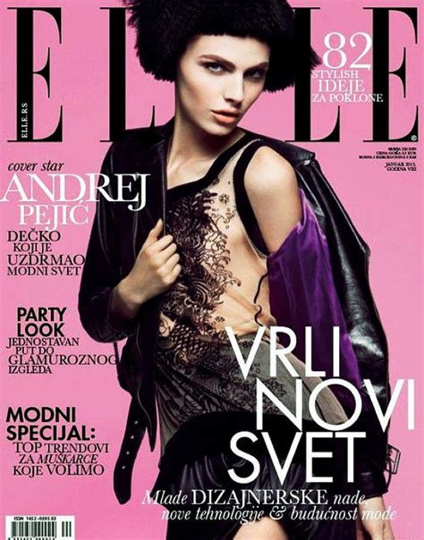 Androgynous Model Covers Serbian Elle  Ny Daily News