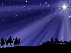 Christmas Star And Wisemen Background | Vertical Hold ...