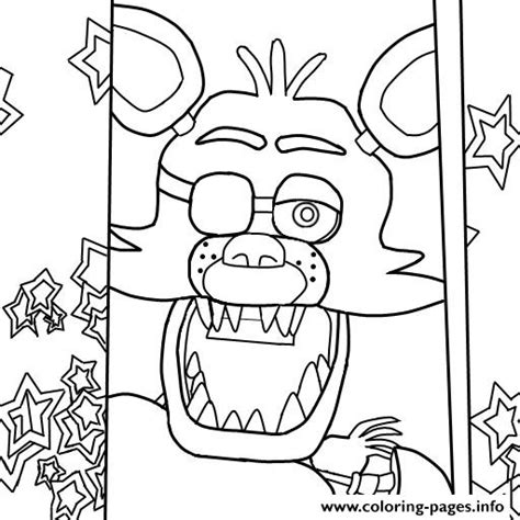 Five Nights At Freddys Kleurplaat Foxy by Five Nights At Freddys Fnaf Foxy To Color Coloring Pages