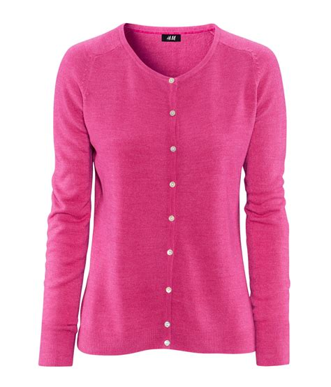 hm cashmere cardigan  pink lyst
