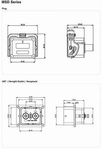 Msd Socket Receptacle Stright Outlet Fuse Current 200a