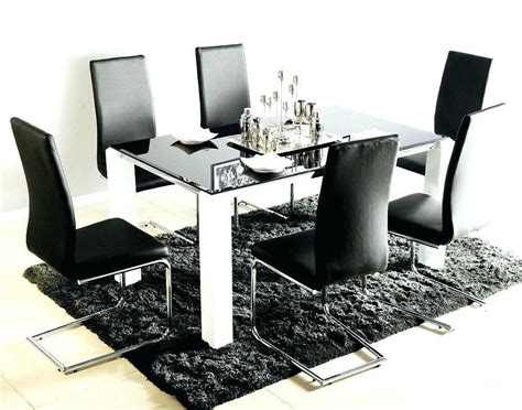 20 Photos Black Glass Dining Tables 6 Chairs