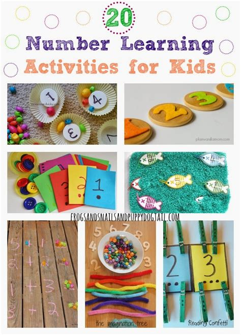 20 number learning activities for fspdt