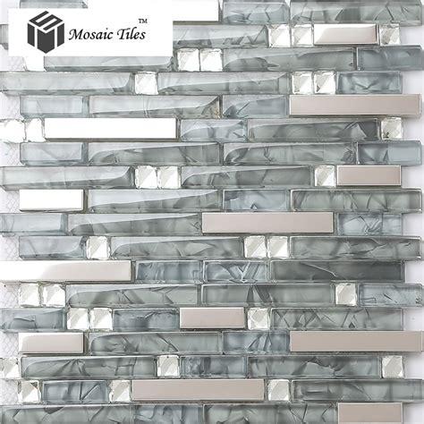 glass mosaic tile kitchen backsplash tst glass mental tile glass tile grey stainless steel backsplash wall tiles place