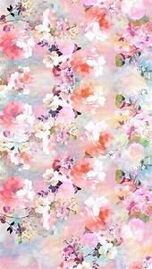 Pink vintage floral iphone background lock screen phone ...