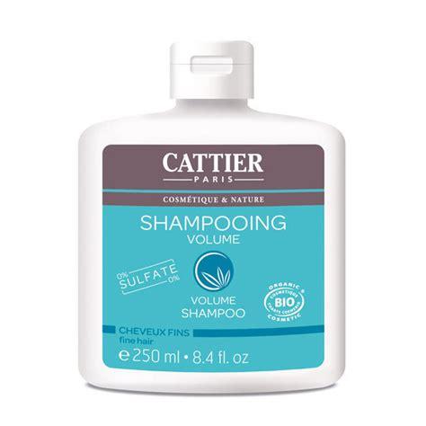 shampoing cattier volume bio pour cheveux fins