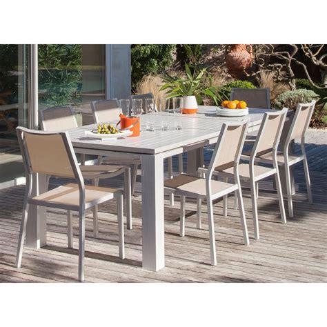 table de jardin extensible fiero en aluminium 180 240x103xh73cm gr 232 ge proloisirs
