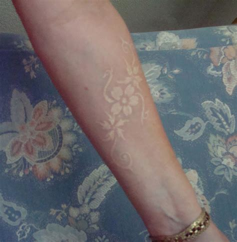 white tattoos   stunningly cool