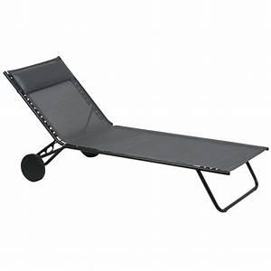 Lafuma Chaise Longue : chaise longue pour quipement outdoor de camping car ~ Nature-et-papiers.com Idées de Décoration