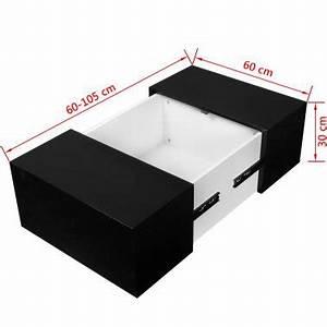 Table Haute Avec Rangement : acheter vidaxl table basse avec rangement noir haute brillance pas cher ~ Teatrodelosmanantiales.com Idées de Décoration