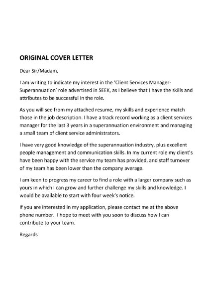 Of Interest Cover Letter by Cover Letter Expressing Interest In Letter Of