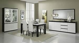 Salle manger complete blanc laque galerie avec salle a for Idee deco cuisine avec meuble salle a manger complete moderne pas cher