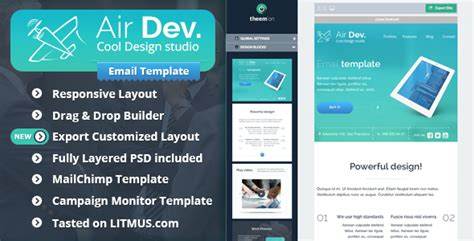 email template builder airdev corporate email template builder access theme for u