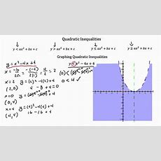 Quadratic Inequalities Pt 1 Youtube