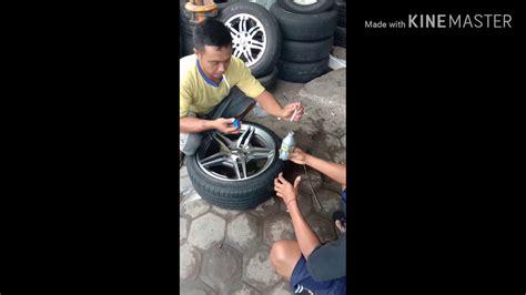 memperbaiki velg mobil mercy retak dengan cara simple youtube
