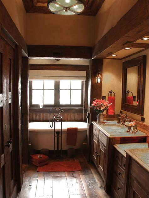 Country Rustic Bathrooms by Rustic Bathroom Decor Ideas Pictures Tips From Hgtv Hgtv