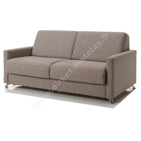 canap convertible tissu canapé convertible d m luigi tissu chiné taupe couchage