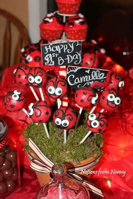 Notions From Nonny Lady Bug Theme Party