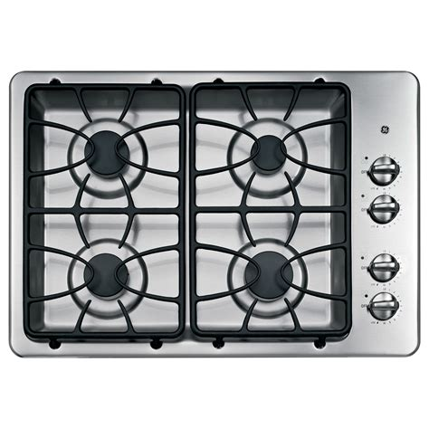 ge appliances jgpsetss stainless steel  gas cooktop