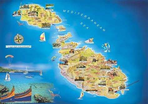 malta tourist map