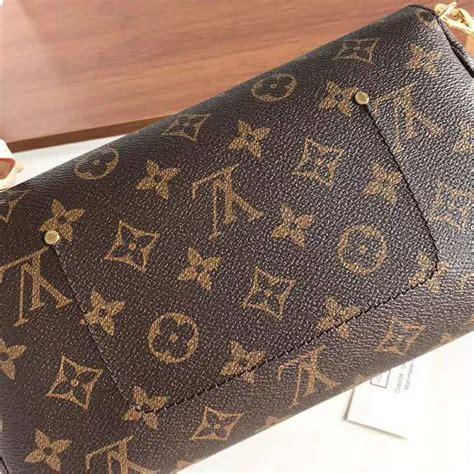 louis vuitton lv women favorite mm clutch  monogram coated canvas brown lulux
