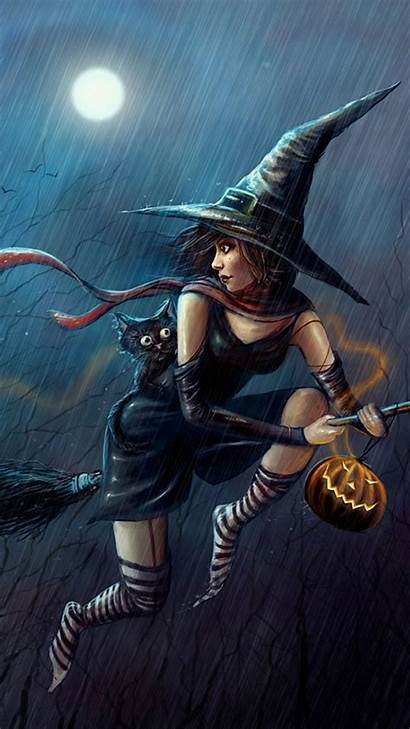 Witches Witch Evil Halloween Wallpapers Wallpapersafari Htc