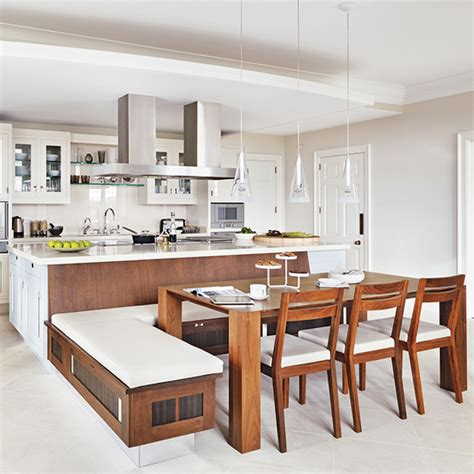 Kitchen Bench Ideas - a place to sit which booths and integrated kitchen seating are best for your kitchen ideal home