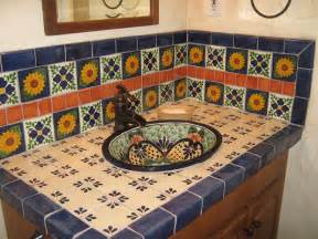 wholesale kitchen sinks and faucets talavera sink showing tiled backsplash mexican home decor