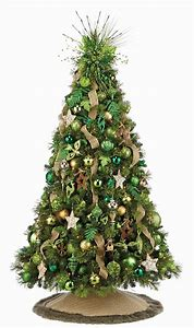 green christmas tree decorations