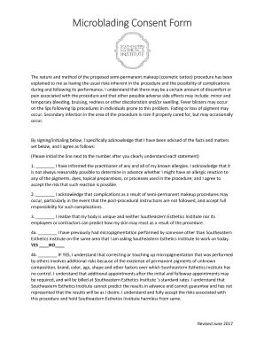 consent form for microblading fillable microblading consent form pdf edit online