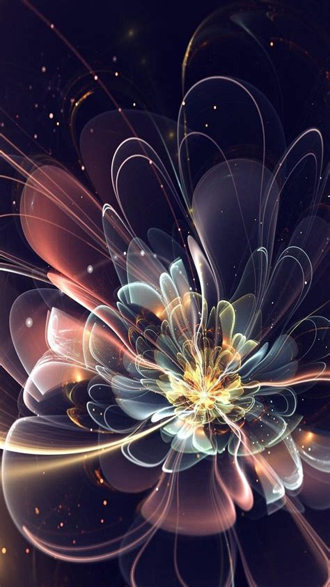 3d Wallpapers For Mobile Hd by Free Mobile Phone Wallpaper 3d Abstract Flower