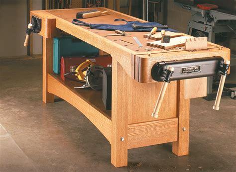 twin screw workbench woodworking project woodsmith plans
