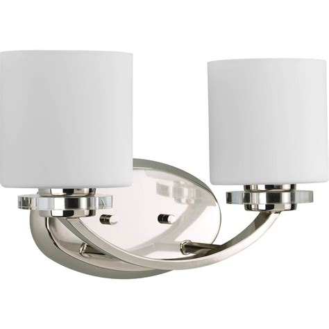 thomasville two bulb bathroom vanity light fixture