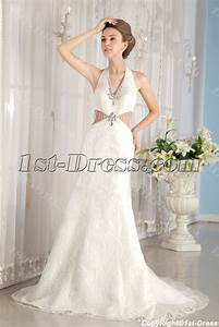 sheath halter sexy lace summer wedding dress1st dresscom With summer lace wedding dress