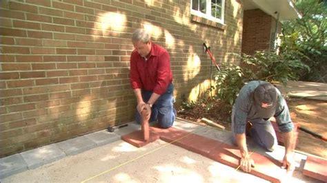 lay  paver patio todays homeowner page