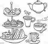 Tea Afternoon Sketch Illustration Illustrations Vector Google Clip Istock Royalty Cup Cake Clipart Party Stand Cartoons Editorial Creative Graphic Embed sketch template