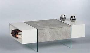 Suche Günstige Möbel : couchtisch ferrara wohnzimmertisch beistelltisch tisch in beton optik abs weiss ebay ~ Indierocktalk.com Haus und Dekorationen