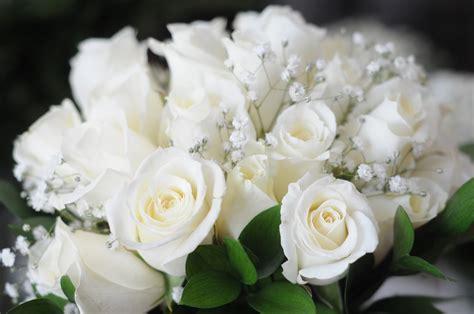 White Rose Bridal Bouquets