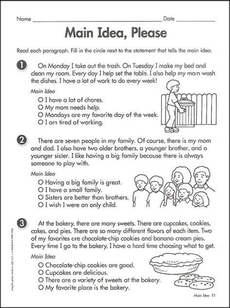 Central Idea Worksheet  Kidz Activities