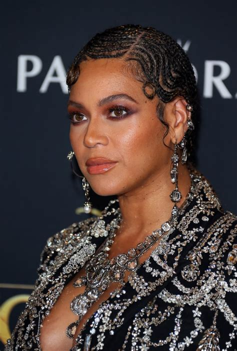 Beyoncé's Braided Finger Waves at The Lion King Premiere ...