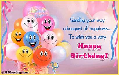 Balloons Birthday Friend Greetings Cards Happiness Send