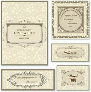 free elegant wedding invitation card design vector 01 With elegant wedding invitations eps