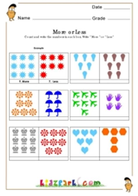 printable math counting worksheet for class 2 senior k g