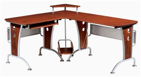 techni mobili space saver mahagonay computer l desk for