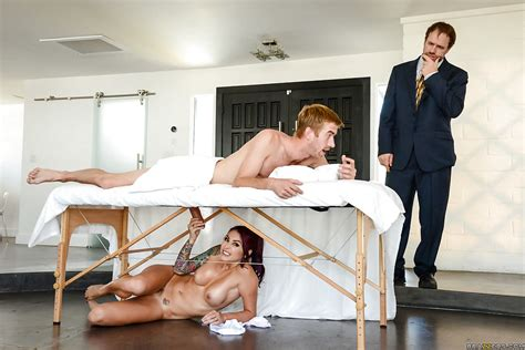 hot milf monique alexander giving massage before rough anal sex anale seks grote tieten blow job