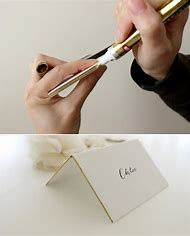 DIY Wedding Place Cards Gold