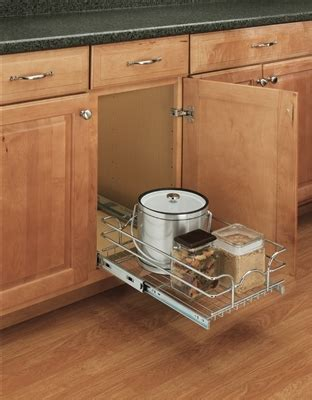 pull out baskets kitchen cabinets single pull out wire basket 8 1 2 quot w x 18 quot d x 7 quot h chrome 7596
