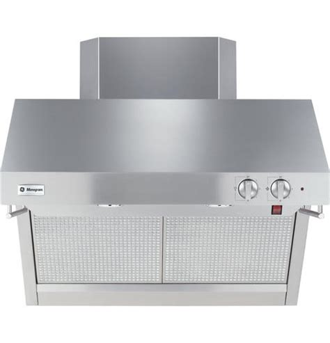 zvrsfss ge monogram  stainless steel professional hood monogram appliances