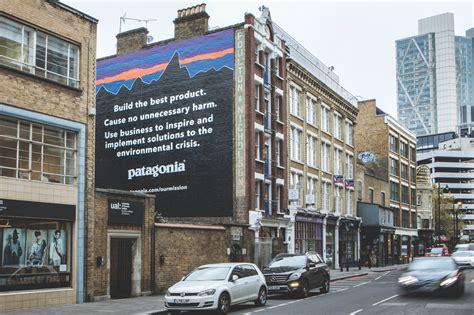 patagonias   wall advertising asks customers