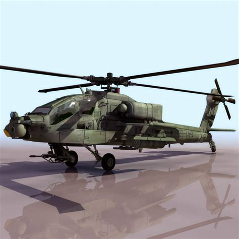 Boeing Ah-64 Apache Attack Helicopter 3d Model 3ds Files